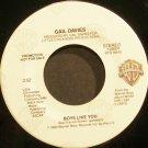 GAIL DAVIES~Boys Like You~Warner Bros. 29374 Promo VG+ 45