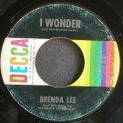 BRENDA LEE~I Wonder~Decca 31510  45