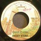 JACKY WARD~Wisdom of a Fool~Mercury 55055  45