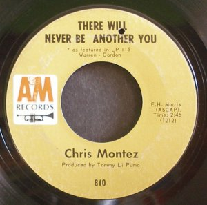 CHRIS MONTEZ~There Will Never Be Another You~A&M 810 (Classic Rock)  45