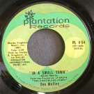 DEE MULLINS~In a Small Town~Plantation PL #54 Rare VG++ 45