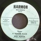 DICK ROMAN~Theme From a Summer Place~Harmon 1004  45