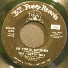 THE HAPPENINGS~See You in September~B.T. Puppy 520 (Soft Rock) VG+ 45