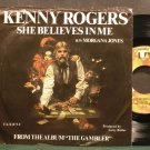 KENNY ROGERS~She Believes in Me~United Artists UA-X1273-Y VG++ 45