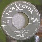 PERRY COMO~Lonesome - That's All~RCA Victor 4687  45