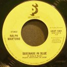RALPH MARTERIE~Serenade in Blue~United Artists 1001 (Big Band Swing)  45