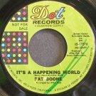 PAT BOONE~It's a Happening World~Dot 17076 Promo Rare 45
