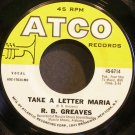 R.B. GREAVES~Take a Letter Maria~ATCO 6714 (Soul) VG++ 45