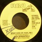 RICK SPRINGFIELD~What Kind of Fool am I~RCA 13245 (Soft Rock) Promo VG+ 45