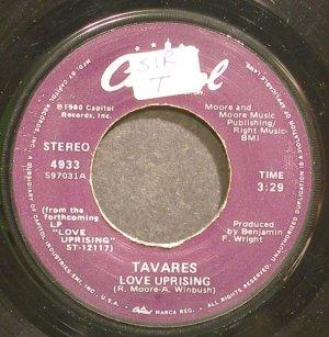 TAVARES~Love Uprising~Capitol 4933 (Funk) VG+ 45