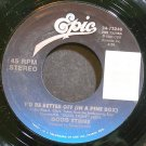 DOUG STONE~I'd Be Better Off (In a Pine Box)~EPIC 73246 VG+ 45