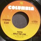 TOTO~Hold the Line~Columbia 10830 (Soft Rock) VG+ 45