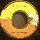 JIMMY MCCRACKLIN~I Know~Chess 1809 (Soul) Promo Rare VG+ HEAR 45