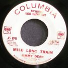 JIMMY DEAN~Mile Long Train~Columbia 42738 Promo VG++ 45
