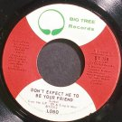 LOBO~Don't Expect Me to Be Your Friend~Big Tree 158 (Soft Rock) VG+ 45