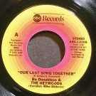 BO DONALDSON & THE HEYWOODS~Our Last Song Together~ABC 12108 VG+ 45