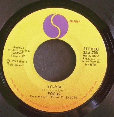 FOCUS~Sylvia~Sire 708 (Progressive Rock) VG++  45