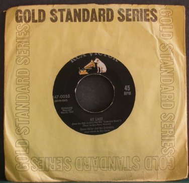GLENN MILLER & HIS ORCHESTRA~At Last~RCA Victor 0035 (Big Band Swing) Rare VG+ 45