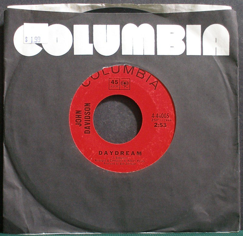 JOHN DAVIDSON~Daydream~Columbia 44005 Rare VG+ 45