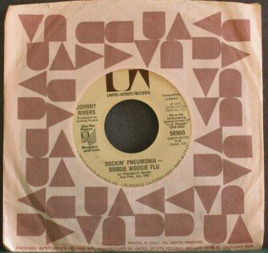 JOHNNY RIVERS~Rockin' Pneumonia~United Artists 50960 (Rock & Roll) VG+ 45