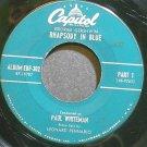 PAUL WHITEMAN & LEONARD PENNARIO~Rhapsody in Blue, Part 1~Capitol 302 (Piano) VG+ 45 EP