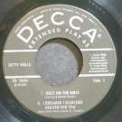 KITTY WELLS~Dust on the Bible~Decca 2646 Rare 45 EP