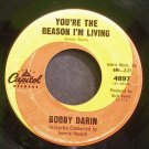 BOBBY DARIN~You're the Reason I'm Living~Capitol 4897  45