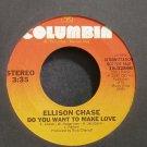 ELLISON CHASE~Do You Want to Make Love~Columbia 02890 (Disco) Promo Rare VG++ 45