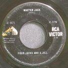 FOUR JACKS AND A JILL~Master Jack~RCA Victor 9473 (Folk-Rock)  45