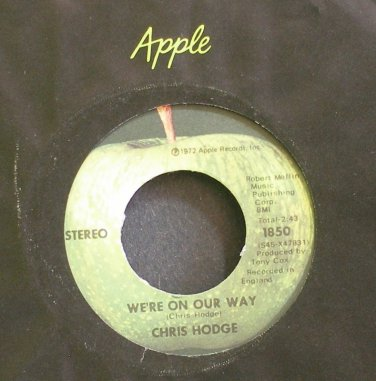 CHRIS HODGE~We're on Our Way~Apple 1850 (Psychedelic Rock) M- 45