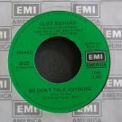 CLIFF RICHARD~We Don't Talk Anymore~EMI America 8025 (Soft Rock) VG++ 45