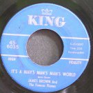 JAMES BROWN~It's a Man's Man's Man's World~King 6035 (Soul) VG+ 45
