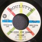 JOE CAPP & THE STARFIRES~The Comic Strip Wobble~Roulette 4436 (Funk Rock) Promo 45