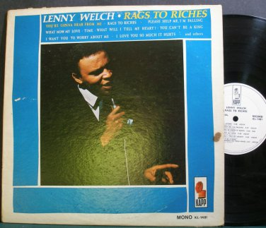 LENNY WELCH~Rags to Riches~Kapp 1481 (Soul) Promo LP