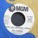 AVA ALDRIDGE~Mama's Got Something Cookin'~MGM 14796 Promo VG++ 45