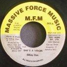 SILKEY DAN~She's a Virgin~Massive Force Music 002 VG++ Jamaica 45