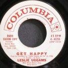 LESLIE UGGAMS~Get Happy~Columbia 42255 Promo 45