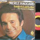 MERLE HAGGARD~Soldier's Last Letter~Capitol 3024 VG+ 45