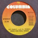 RAY CHARLES~Rock and Roll Shoes~Columbia 04531 VG++ 45