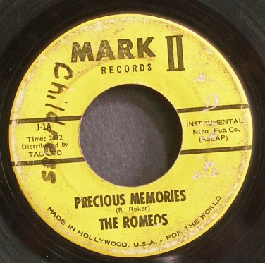 THE ROMEOS~Precious Memories~Mark II 1 (Soul) 1st 45