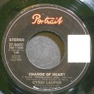 CYNDI LAUPER~Change of Heart~Portrait 06431 (Synth-Pop)  45