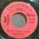 GARY PUCKETT~Keep the Customer Satisfied~Columbia 45303 (British Invasion) Rare VG+ 45
