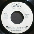 BILLY GRAMMER~The Ballad of John Dillinger~Mercury 72836 Promo VG+ 45