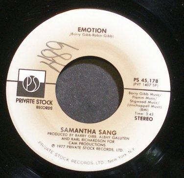 SAMANTHA SANG~Emotion~Private Stock 45,178 VG+ 45