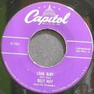 BILLY MAY & HIS ORCHESTRA~Lean, Baby~Capitol F1793 (Big Band Swing) Rare M- 45