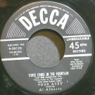 THE FOUR ACES~Three Coins in the Fountain~Decca 29123  45