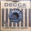FRED WARING~Winter Wonderland~Decca 28970 (Christmas) VG++ 45