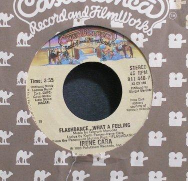 IRENE CARA~Flashdance ... What a Feeling~Casablanca 440-7 (Disco) VG+ 45