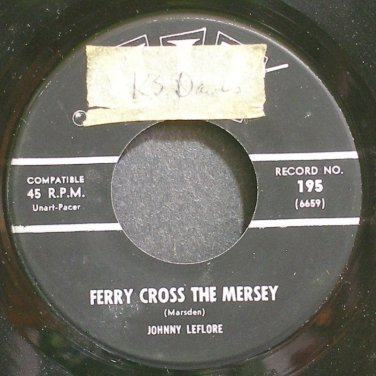 JOHNNY LEFLORE~Ferry Cross the Mersey~Hit 195 (Rock & Roll) VG++ 45