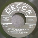 ANDRE PREVIN QUARTET~Let's Get Away From it All~Decca 751 45 EP